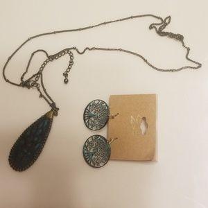 Jewelry set. Tree of Life earrings.